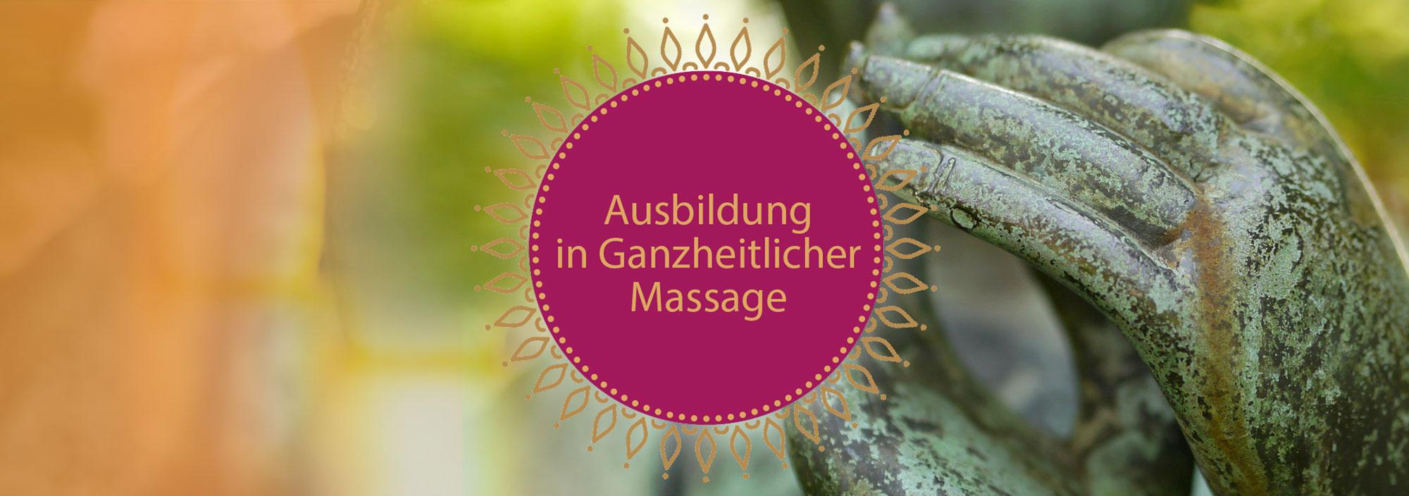 Ausbildung in ganzheitlicher Massage. Motiv: Hände-Skulptur